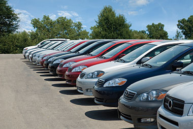 Picture of used cars on a lot