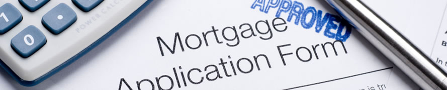 picture of a mortgage application form and calculator